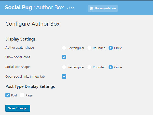 Social Pug Author Box For GeneratePress Settings